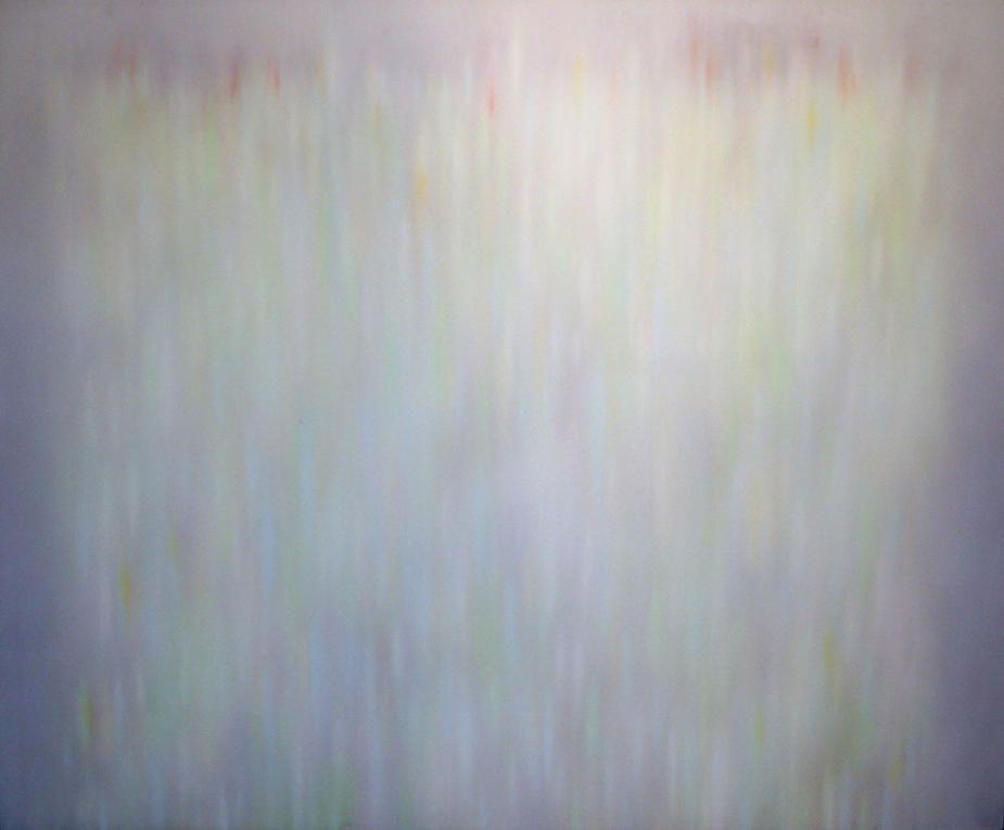 """Natvar Bhavsar, Shamana, 1984, pure pigment on canvas, 69 x 85"""""""