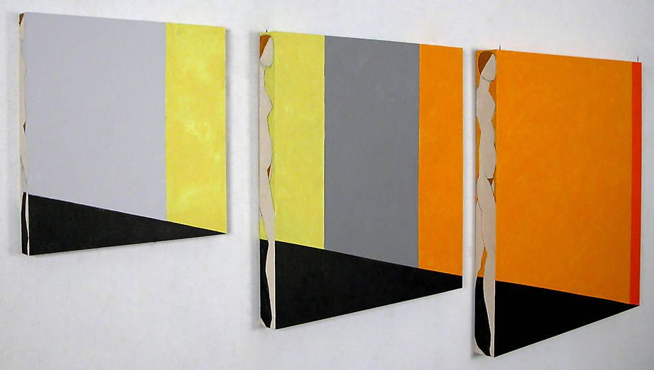 Susan Weil,  Peripheries II , 2004, Acrylic on board, 48 x 118""