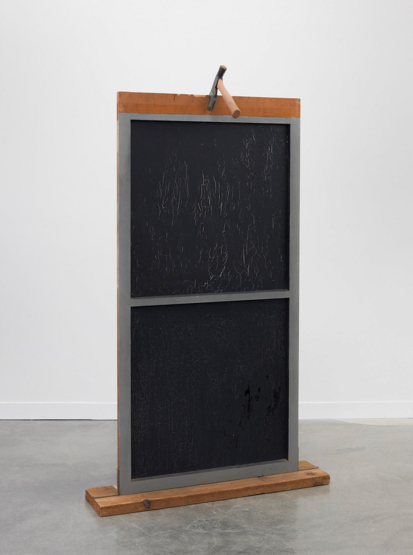 Window with an Axe, 1961-62, Wood, painted glass and object