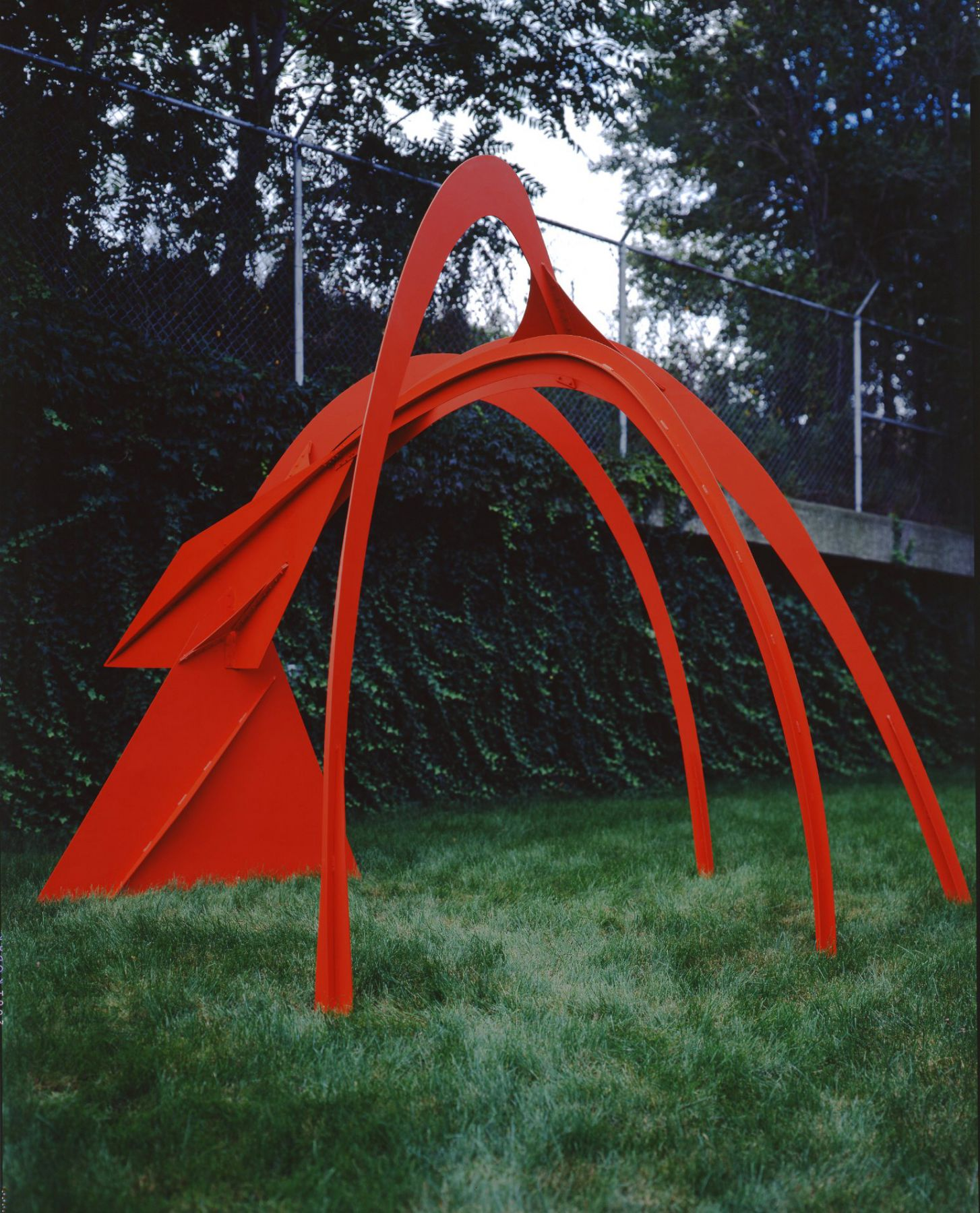 Alexander Calder Intermediate Model for Four Arches Painted fabricated steel