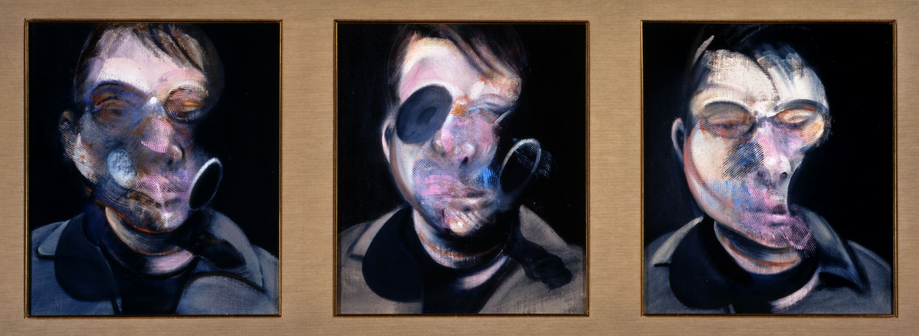 francis bacon three studies for self-portrait oil on canvas