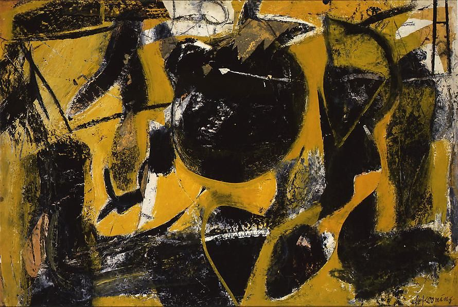 Abstraction, 1948 Oil, charcoal, enamel and paper collage on paper, mounted on board