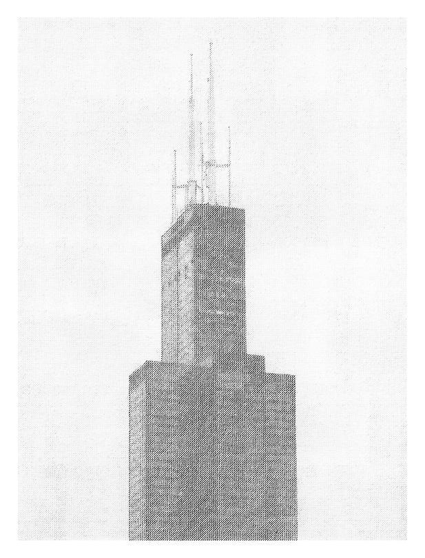 Ewan Gibbs Chicago Sears Tower Graphite on paper
