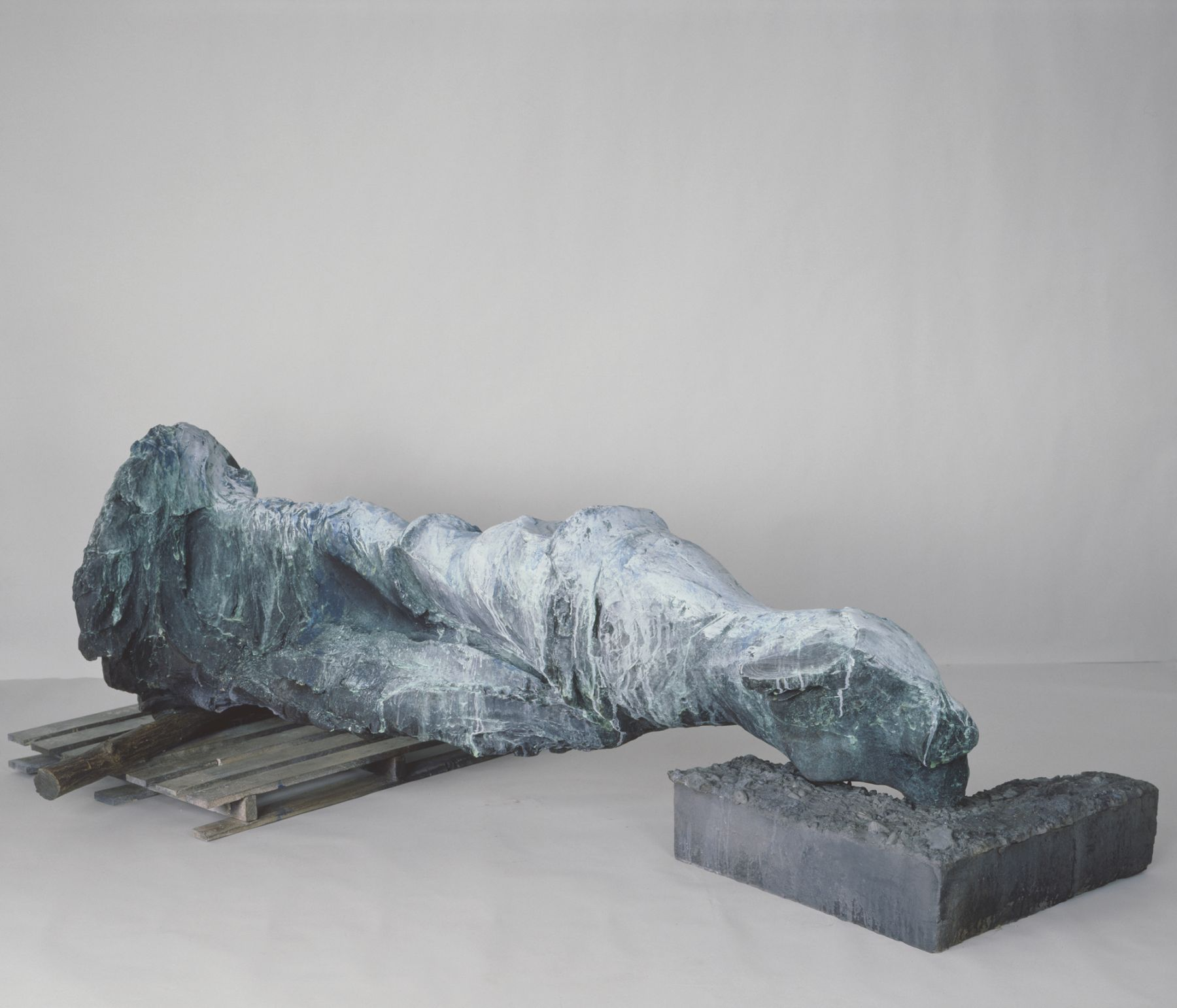 The Mountains in the Distance, 1987-88, Bronze, polychrome patina with pigment, sealed with hot wax