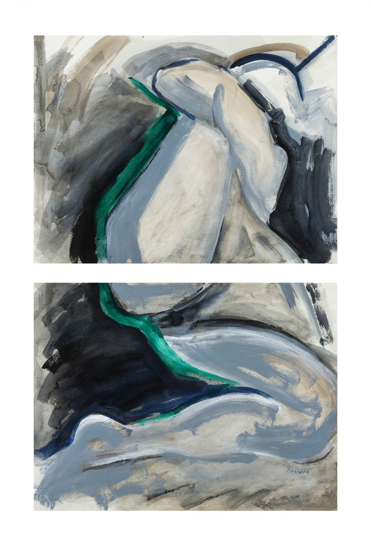 Who in the night time Diptych