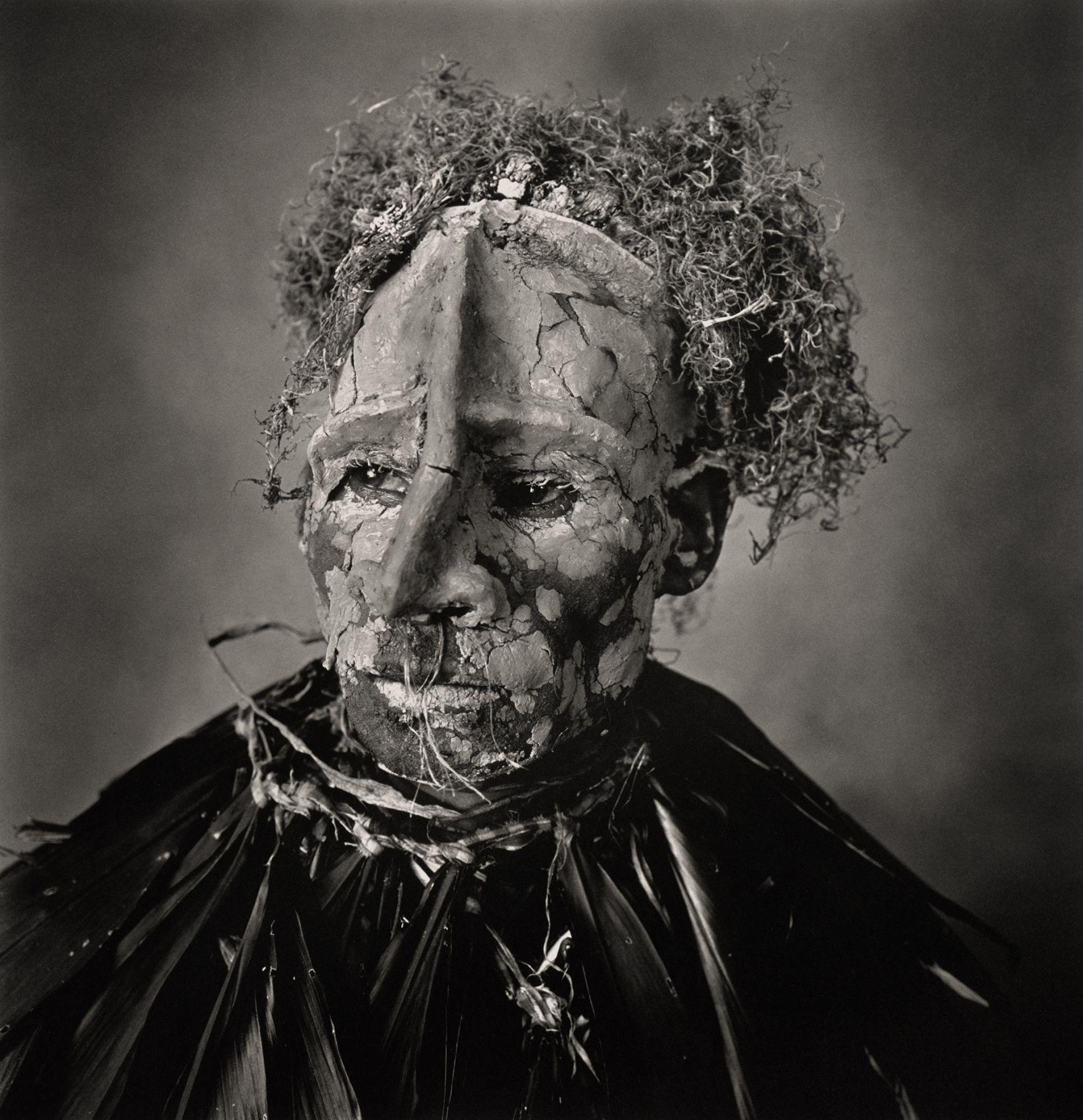 Man with Pink Face, New Guinea, 1970, Platinum Palladium Print Mounted to Aluminum, Ed. of 49