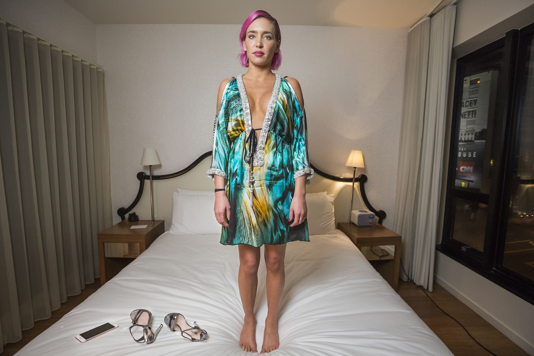 Daveney, 27, formerly Kacey Jordan, at the Mondrian Hotel, West Hollywood, 2016