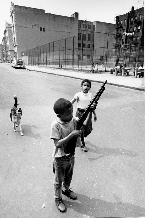 Boy & Gun, Bronx NY, 1969, Silver Gelatin Photograph