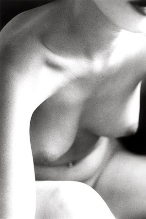 Untitled (Nude Leaning Forward), 1995, 14 x 11 Silver Gelatin Photograph, Ed. 25