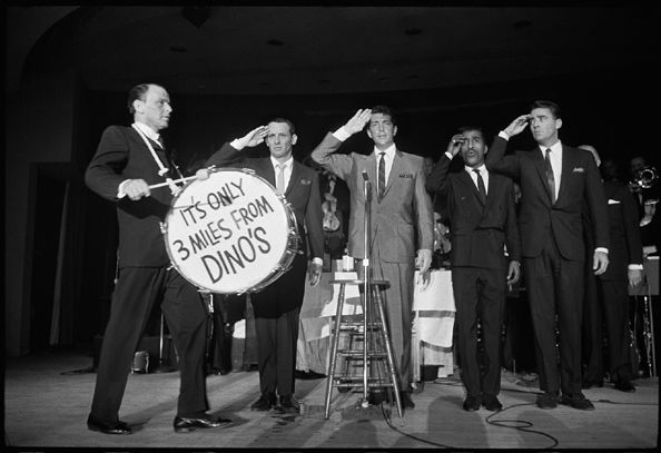 "The Rat Pack (Frank Sinatra, Joey Bishop, Dean Martin, Sammy Davis Jr., and Peter Lawford) with Drum, ""It's Only Three Miles From Dino's"", 1962"
