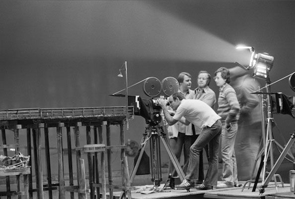 Steven Spielberg Filming on the Set of 1941, 1979