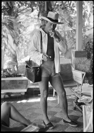 John Wayne (In Shorts Smoking), Acapulco, 1959