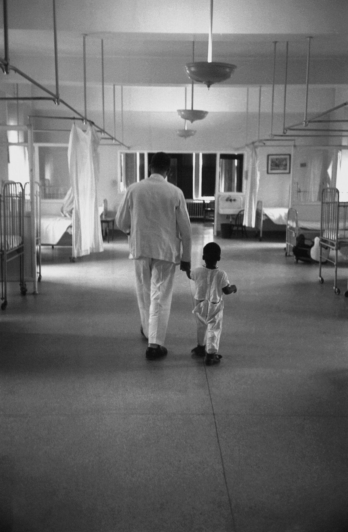 Doctor & Little Boy, 1953, Silver Gelatin Photograph