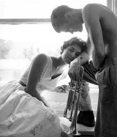 Halima & Chet Baker, Redondo Beach, 1955, 24 X 20 Silver Gelatin Photograph, Edition of 25
