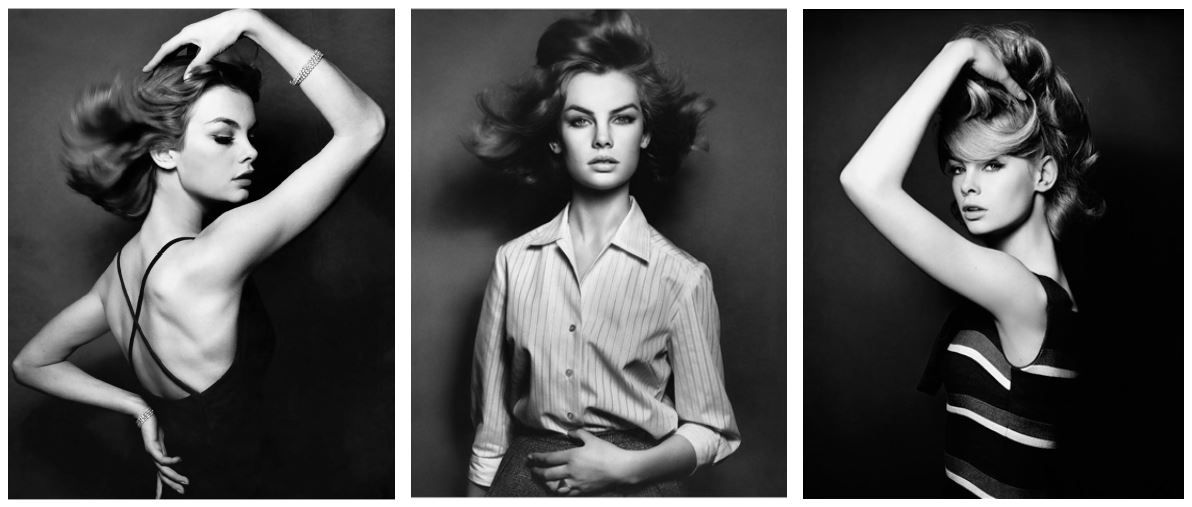 David Bailey, Jean Shrimpton (Triptych), 1961/2007