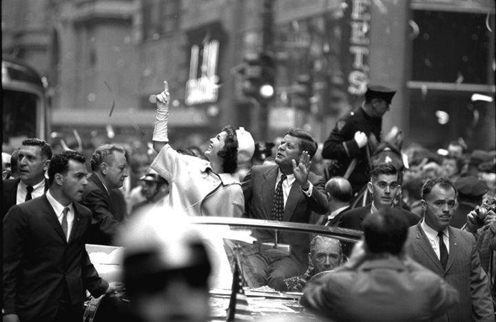 Jacqueline & John Kennedy NYC, 1960, Silver Gelatin Photograph