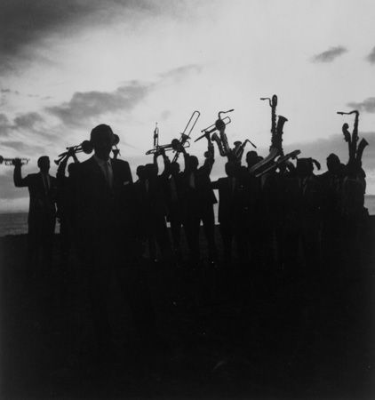 Stan Kenton Band, Balboa Beach, 1957, 20 X 16 Silver Gelatin Photograph, Edition of 25