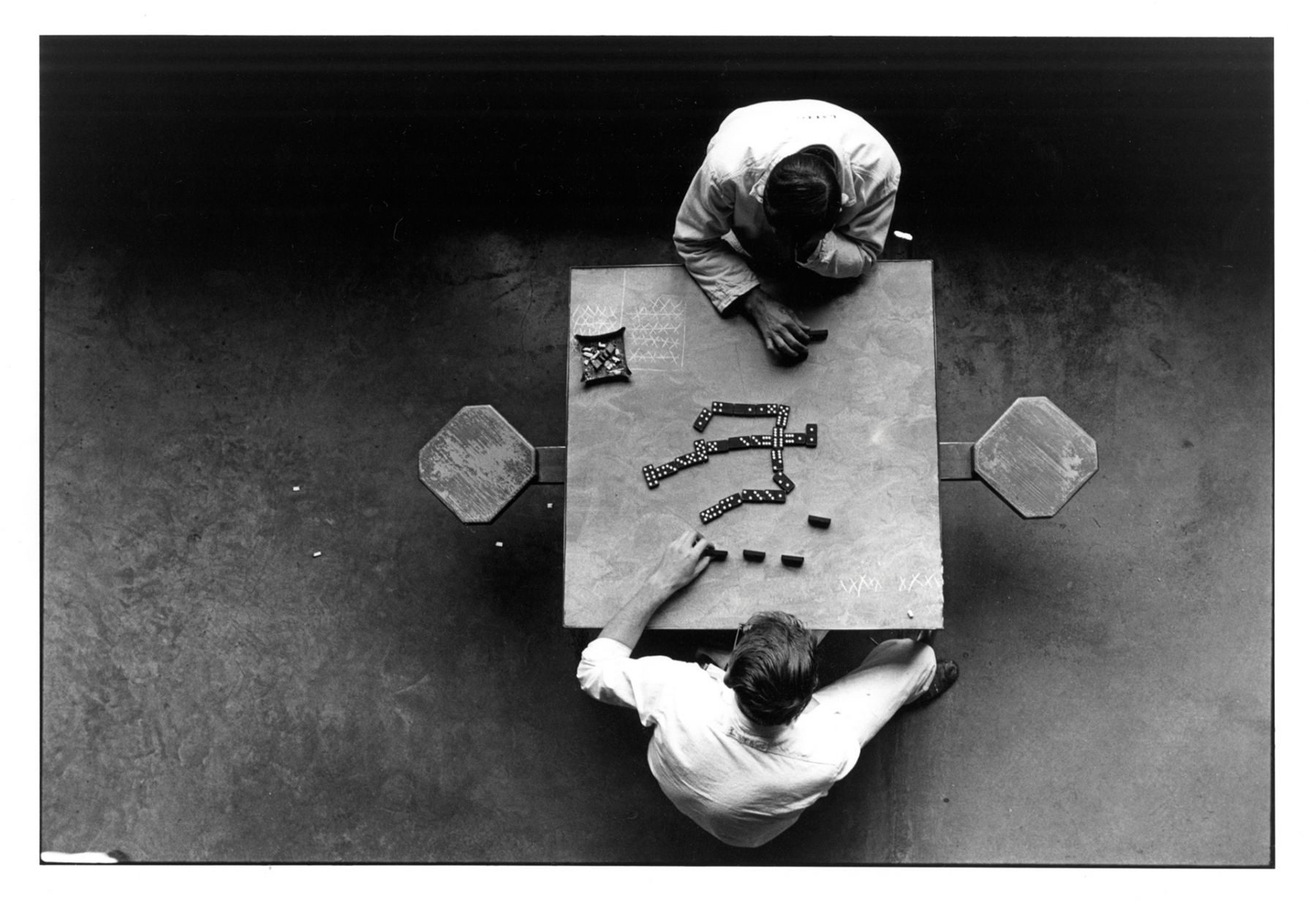 The Dominoes Players, Texas Walls Unit, from Conversations with the Dead, 1967