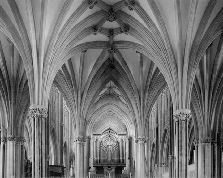 Retrochair, Wells Cathedral, 1980, 22 x 28 Inches, Silver Gelatin Photograph