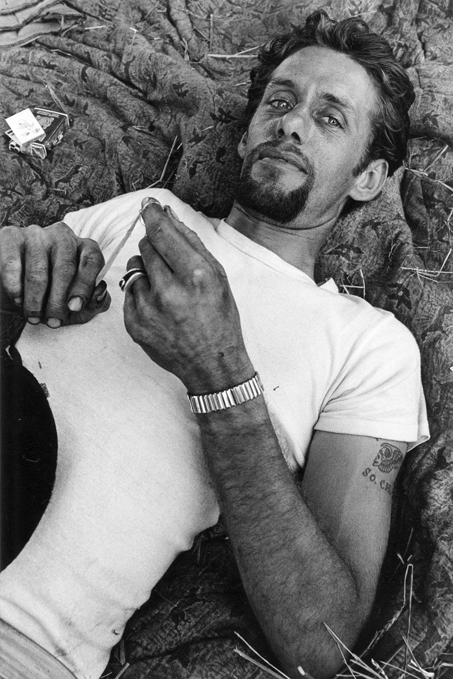 Copyright Danny Lyon / Magnum Photos, Cal, Springfield, Illinois, from The Bikeriders, 1966