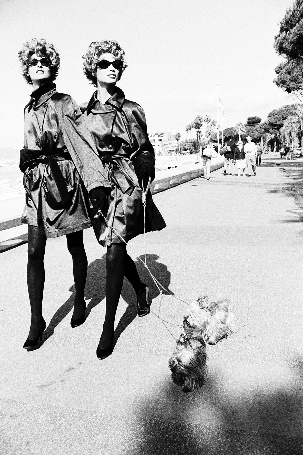 Dog Walkers, 1990, Silver Gelatin Photograph