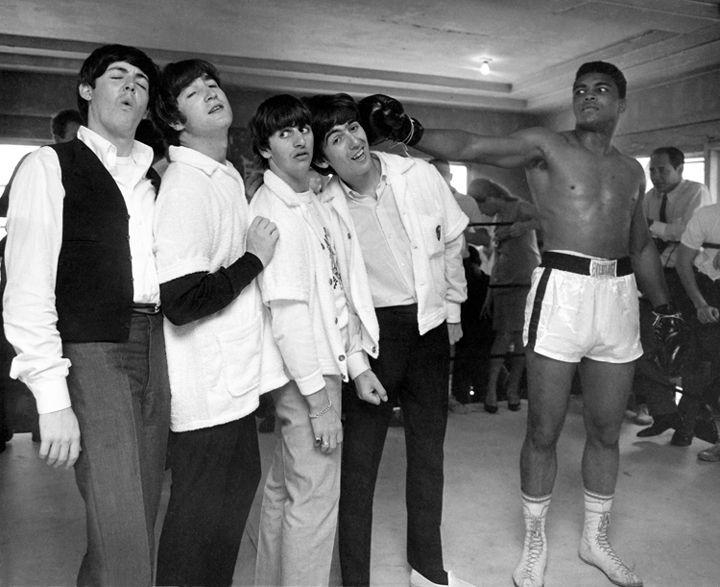 Ali Hits George, 5th Street Gym, Miami, 1964