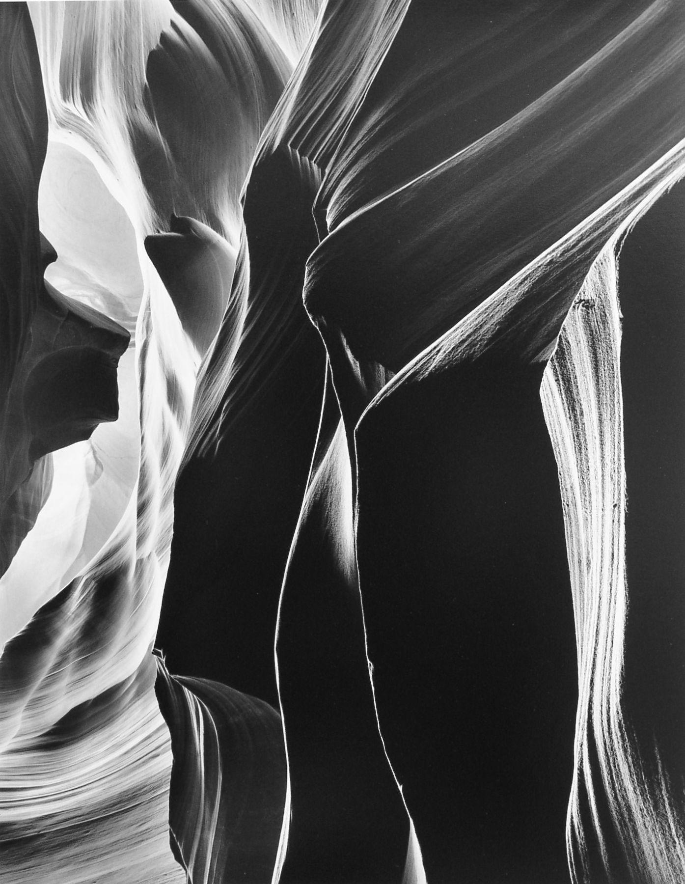 The Slit, Antelope Canyon, 1980, 28 x 22 Inches, Silver Gelatin Photograph