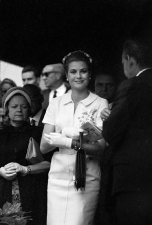 Princess Grace smiling at camera, Monaco, May, 1965