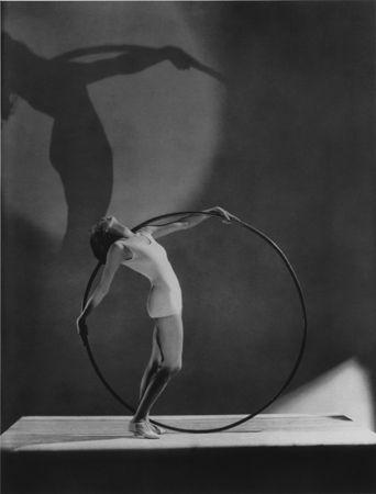 Beach Fashion with Hoola Hoop, Miss E. Carise, Paris, 1930, 20 x 16 Platinum Palladium on 24 x 20 Paper, Ed. 27