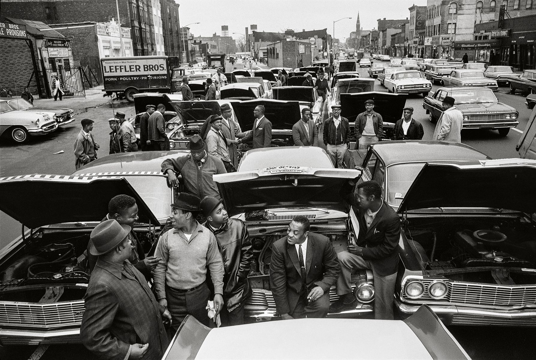 Brooklyn CORE Car Stall-In, 1964, 16 x 20 Inches, Silver Gelatin Photograph, Edition of 25