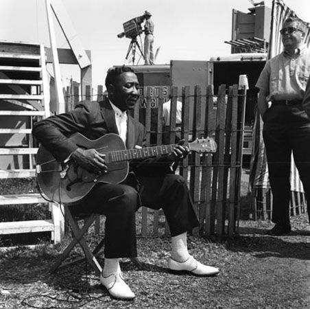Muddy Waters, Newport Jazz Festival, 1956, 16 X 20 Silver Gelatin Photograph, Edition of 25