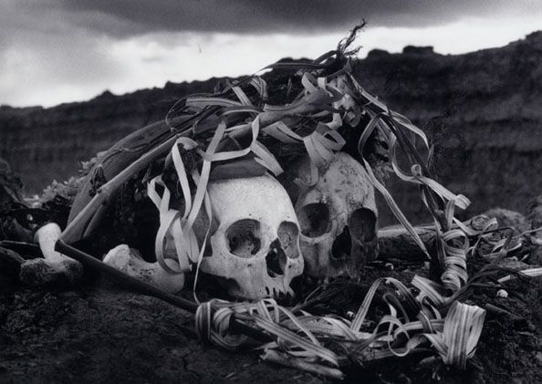 Polvo serán, mas polvo enamorado (Dust they become, but dust in love), Bolivia, 1990, 11 x 14 Silver Gelatin Photograph