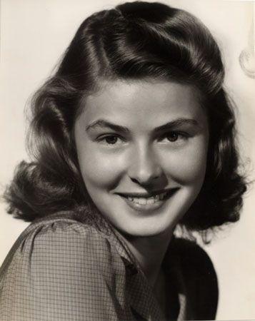Ingrid Bergman, c. 1940s, 12-2/8 x 9-3/4 Vintage Silver Gelatin Photograph