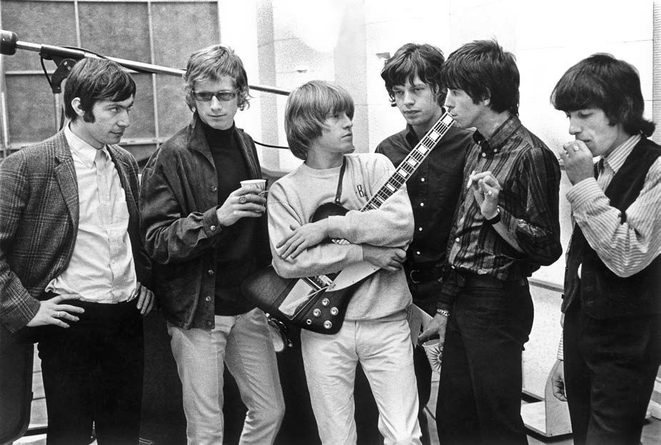 Rolling Stones, 'Satisfaction' session at RCA Studio 1 in Hollywood, Time Magazine, 1965, Silver Gelatin Photograph