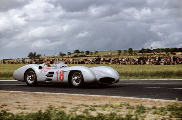 Juan Manuel Fangio (Mercedes W196), Grand Prix of France, Reims, 1954