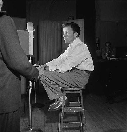 Portrait of Frank Sinatra, Liederkrantz Hall, New York, NY, c. 1947, 14 x 11 Silver Gelatin Photograph