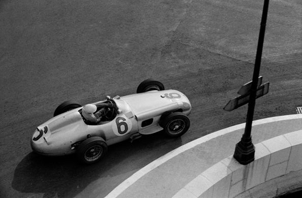 Stirling Moss (Mercedes W196), Grand Prix of Monaco, 1955