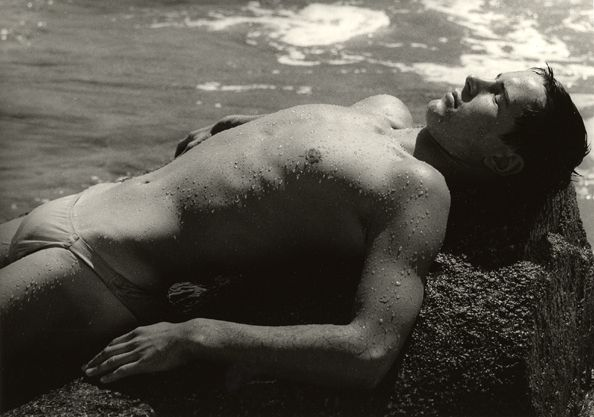 Boy Drying Up on a Rock, Capri, 1955, 30cm x 40cm Silver Gelatin Photograph