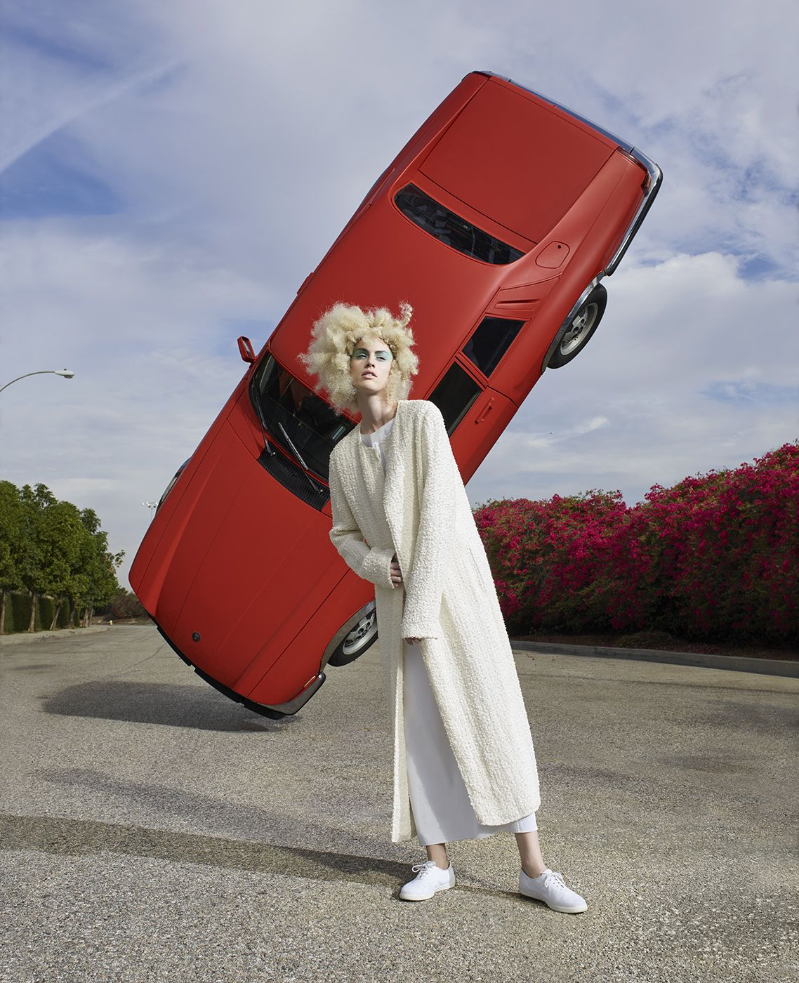 Fashion (with Red Car on Point), Los Angeles, 2016, 40 x 32 1/2 Inches, Archival Pigment Print, Edition of 5