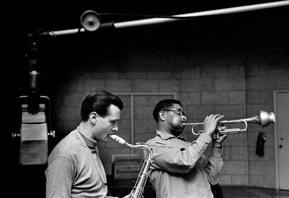 Stan Getz and Dizzy Gillespie, 1953, 16 x 20 Silver Gelatin Photograph