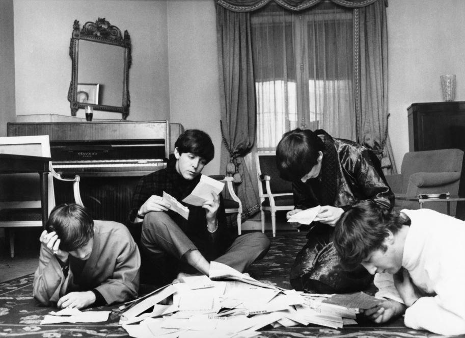 Beatles with Fan Mail, Paris, 1964, 17 x 22 Archival Pigment Print, Edition 35