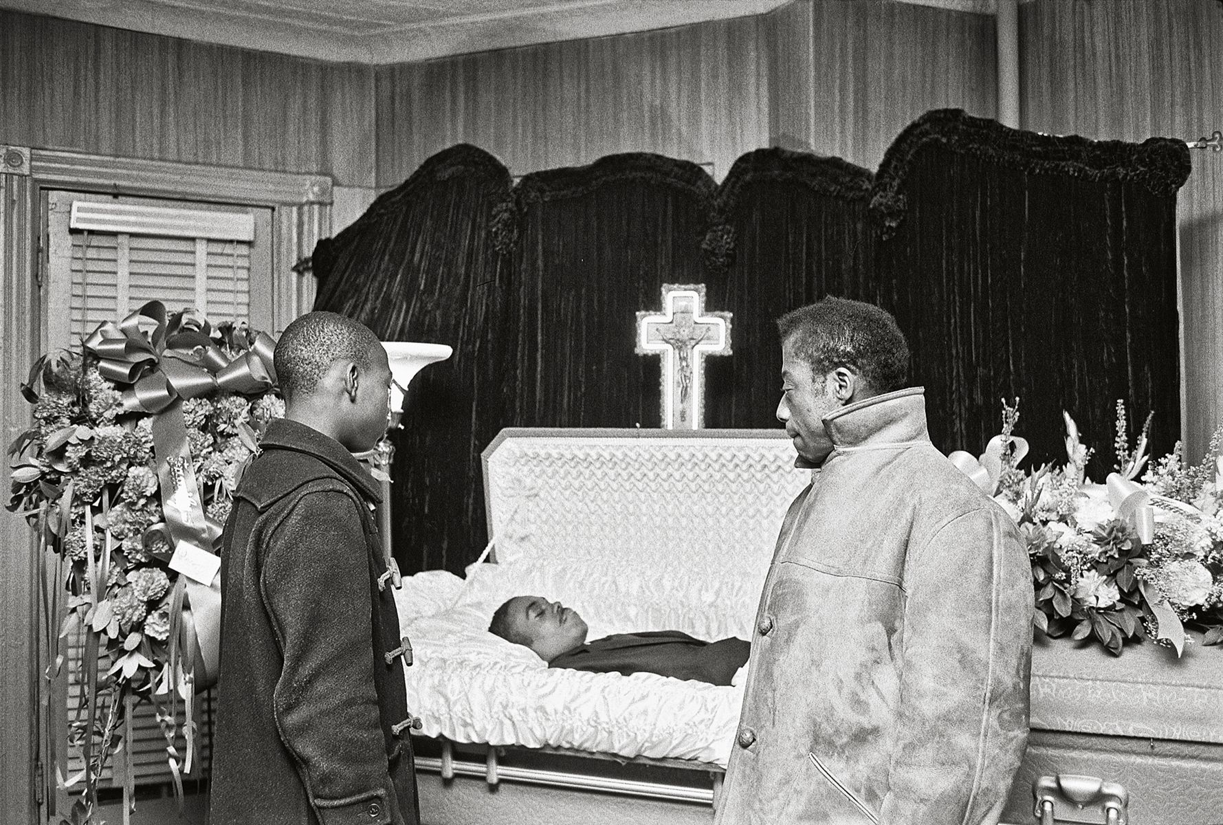 James Baldwin and His Nephew at aFuneral, Harlem,1963, 16 x 20 Inches, Silver Gelatin Photograph, Edition of 25
