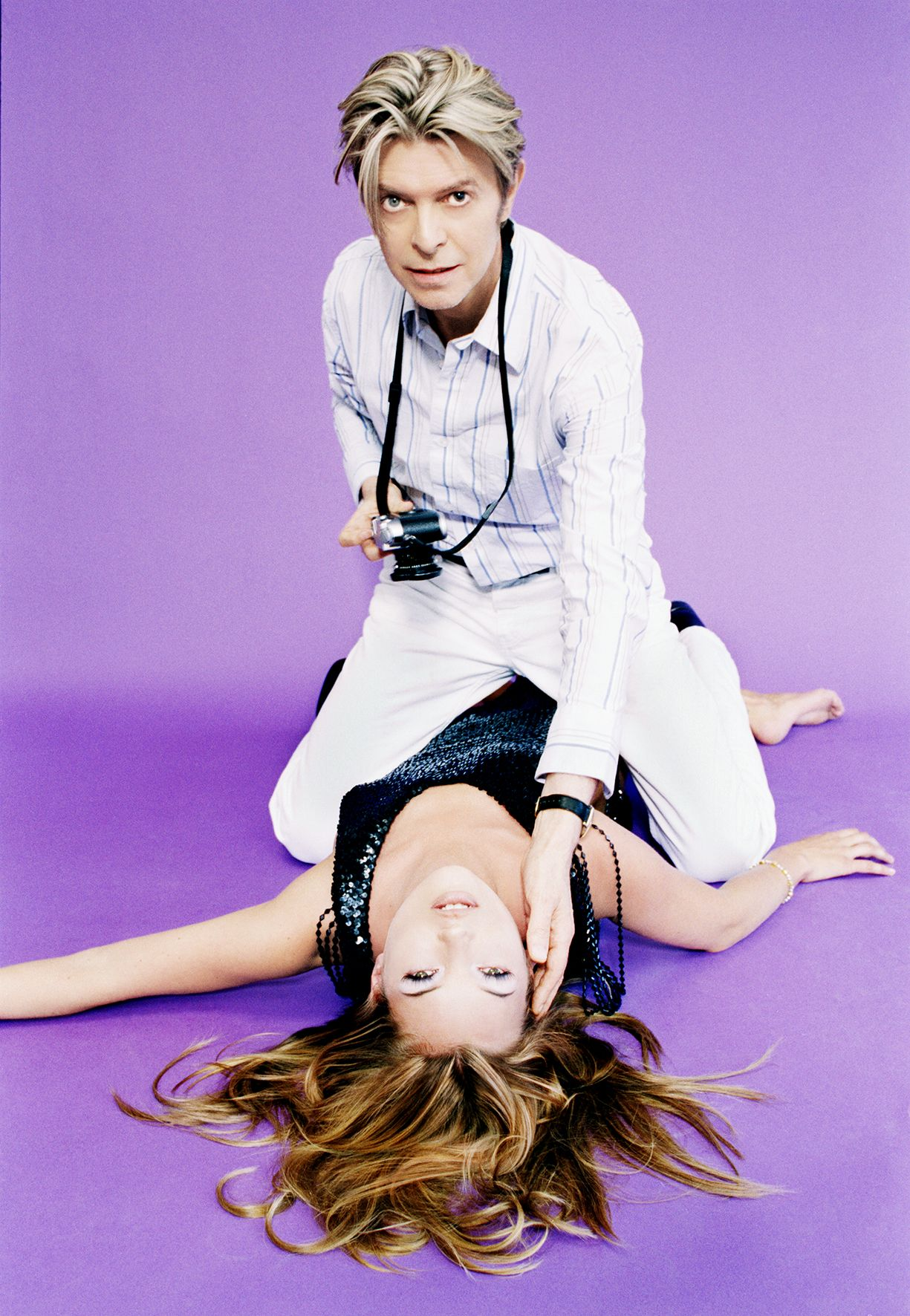 Kate Moss and David Bowie, New York,2003, C-Print