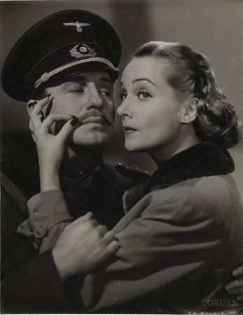 """Jack Benny & Carole Lombard """"To Be or Not to Be,"""" 1942, 13-3/8 x 10-7/16 Vintage Silver Gelatin Photograph"""