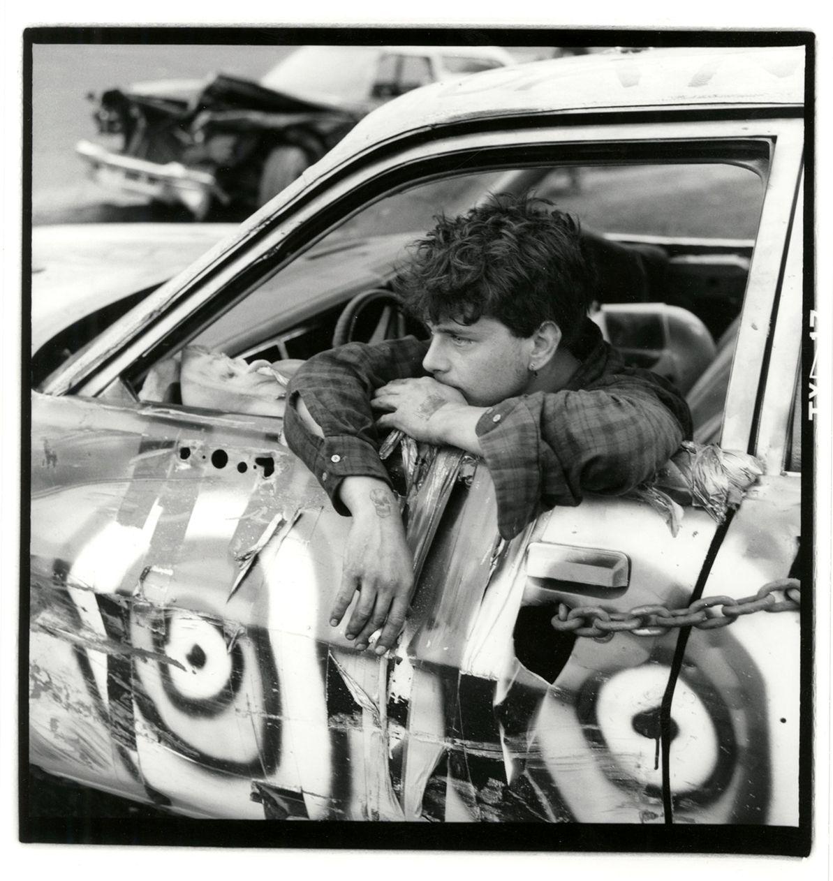 Copyright Danny Lyon / Magnum Photos, Wall Stadium, New Jersey, 1988