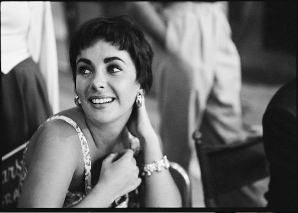 """Elizabeth Taylor Visiting the Set of """"A Star is Born"""", 1954"""