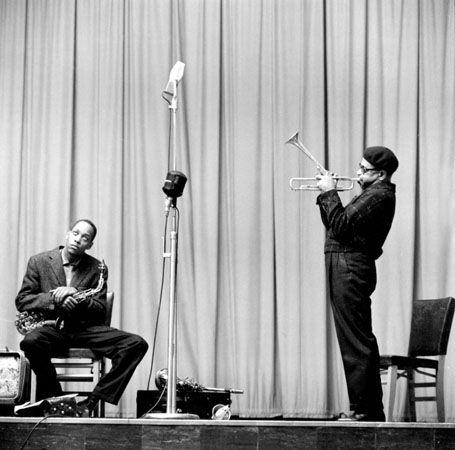 Sonny Stitt and Dizzy Gillespie, New York City, 1953, 11 x 14 Silver Gelatin Photograph