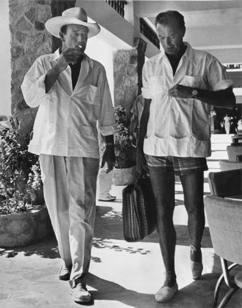 John Wayne and Gary Cooper, 1961