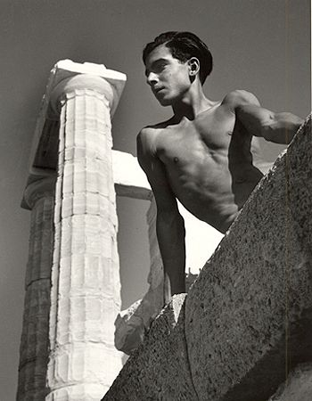 Beneath the Poseidon Temple, Torremolinos, 1951, 16 x 12 Silver Gelatin Photograph