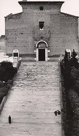 Stairway to Heaven, Rome, 1950, 11-7/10 x 6-11/16 Vintage Silver Gelatin Photograph